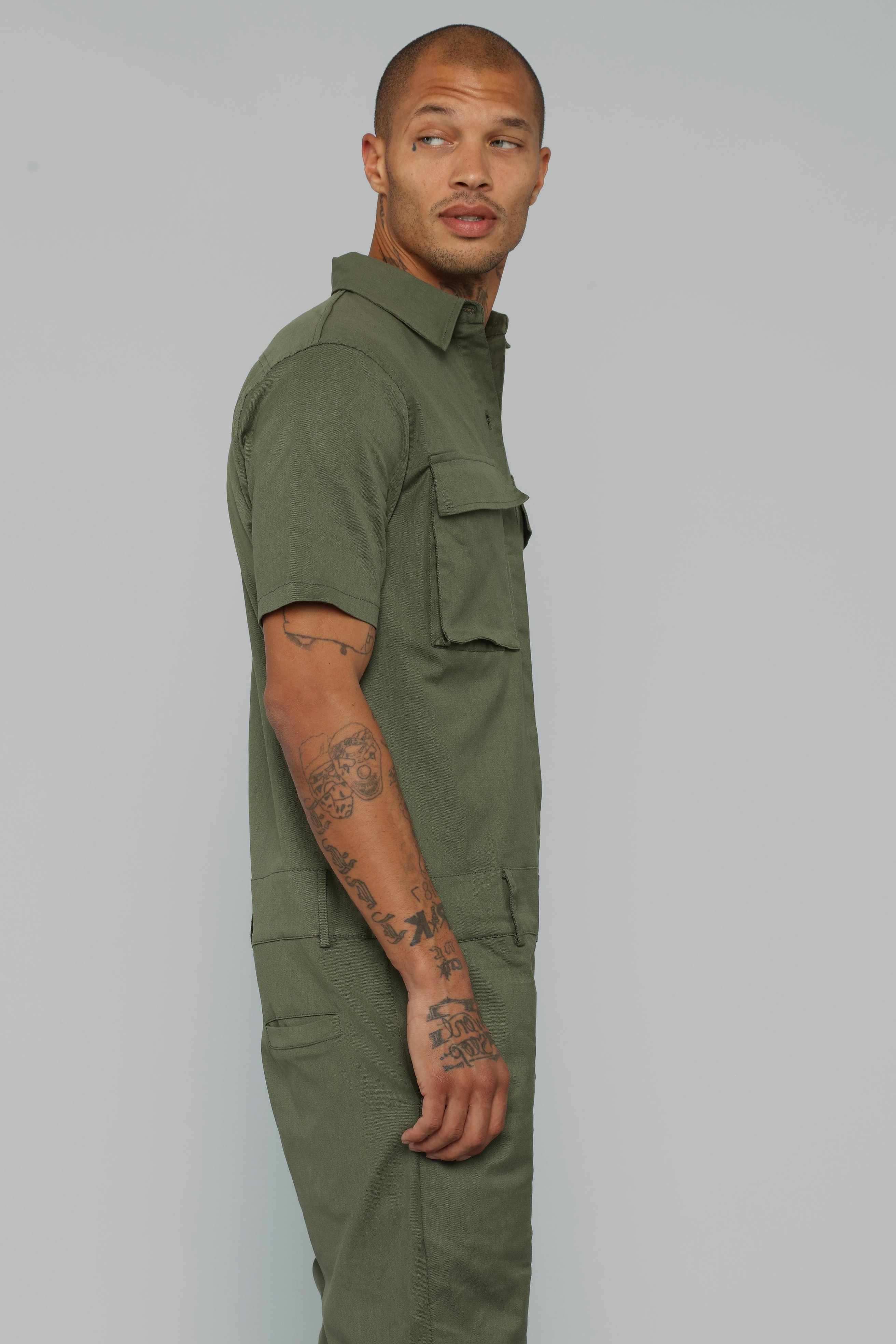Half Way There Party Suit-Olive