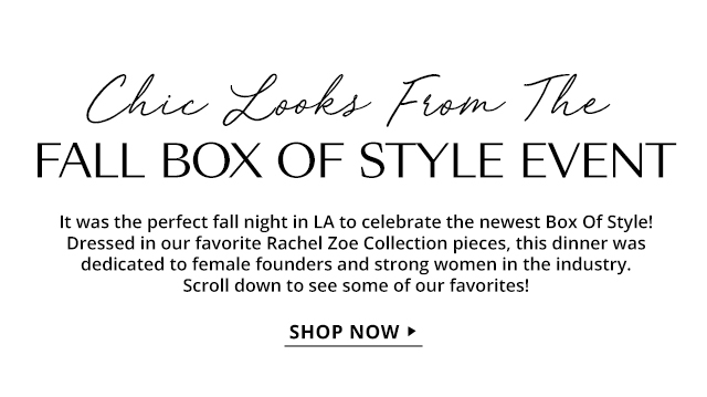 Chic Looks From The Fall Box Of Style Event