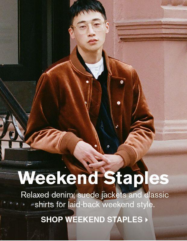 SHOP WEEKEND STAPLES >