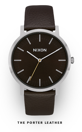 The Porter Leather Watch by Nixon