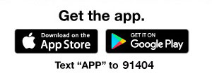 GET THE APP - TEXT APP TO 91404