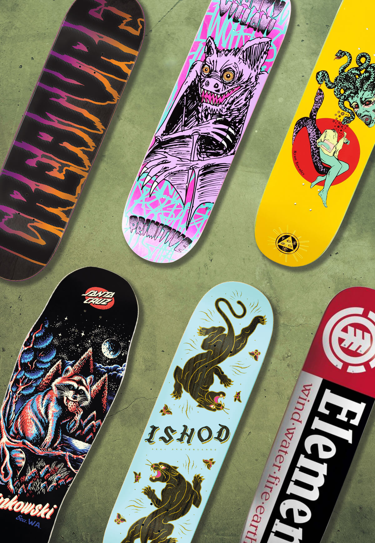 NEW ARRIVAL SKATEBOARD DECKS FROM THE BEST IN THE BUSINESS - SHOP SKATEBOARDS
