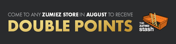 Come To Any Zumiez Store In August To Receive Double Stash Points | Visit Your Local Shop Now