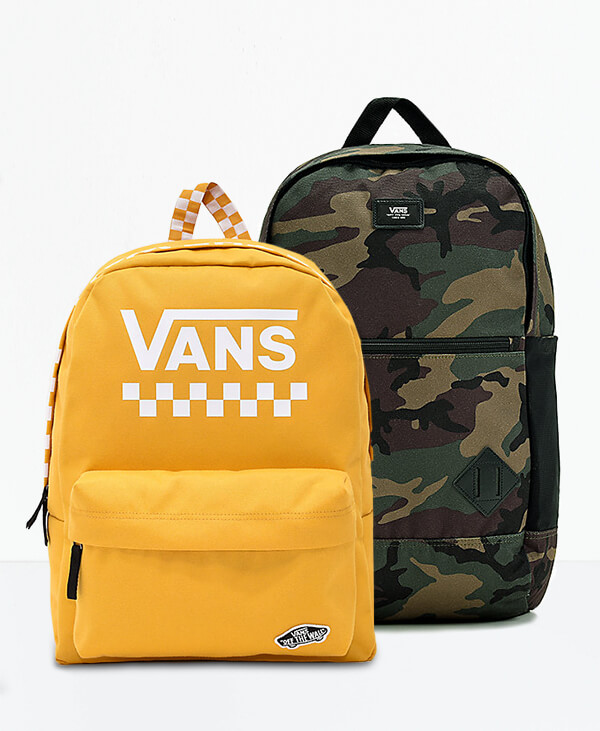 NEW Bold Styles From Vans Featuring Yellow and Camo Backbacks | SHOP BACKPACKS NOW