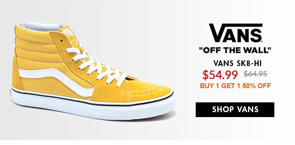 VANS SALE SHOES - FEAT. YELLOW SK8-HI & MORE - SHOP SALE VANS