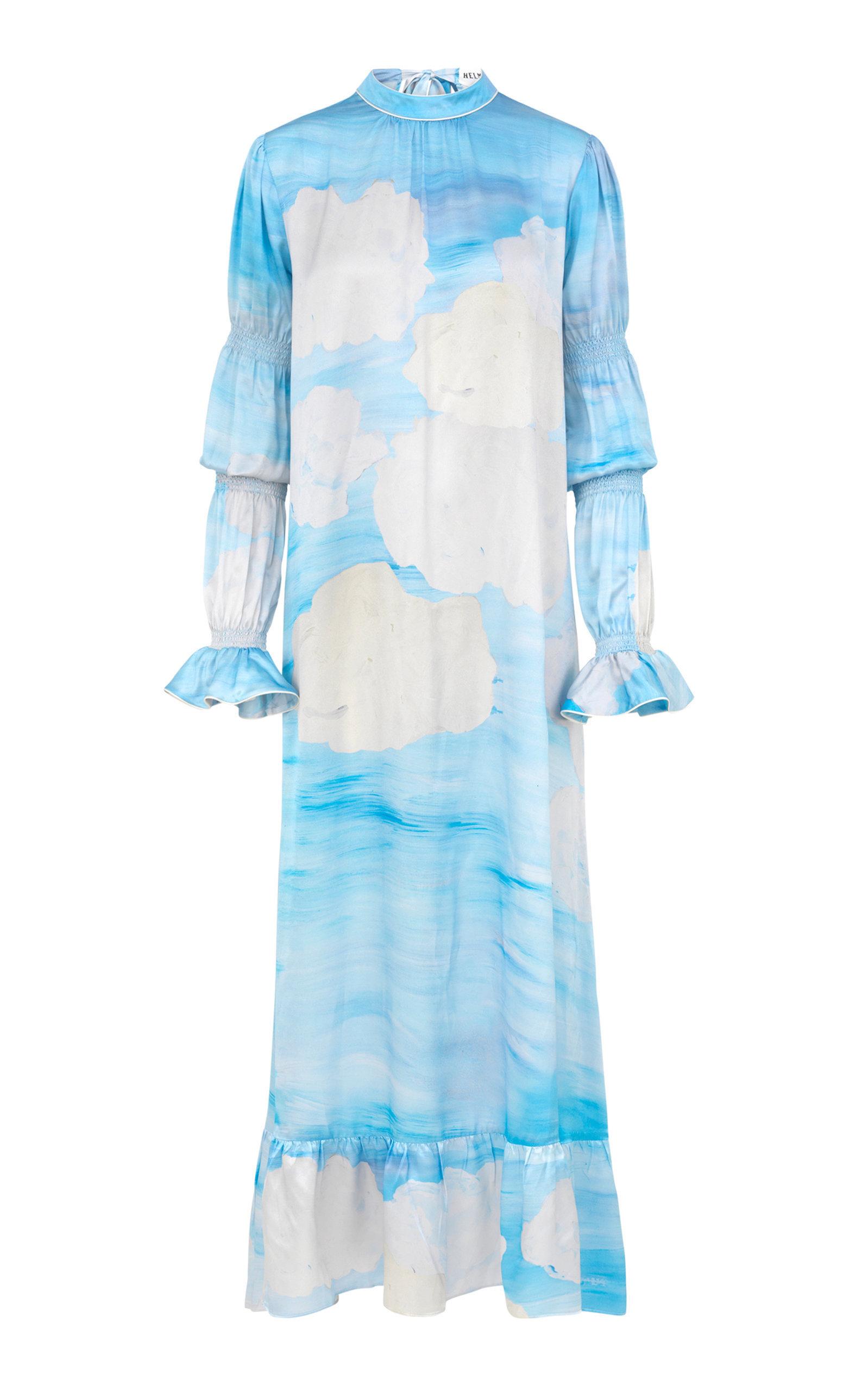Silk Satin Long Sleeve Dress