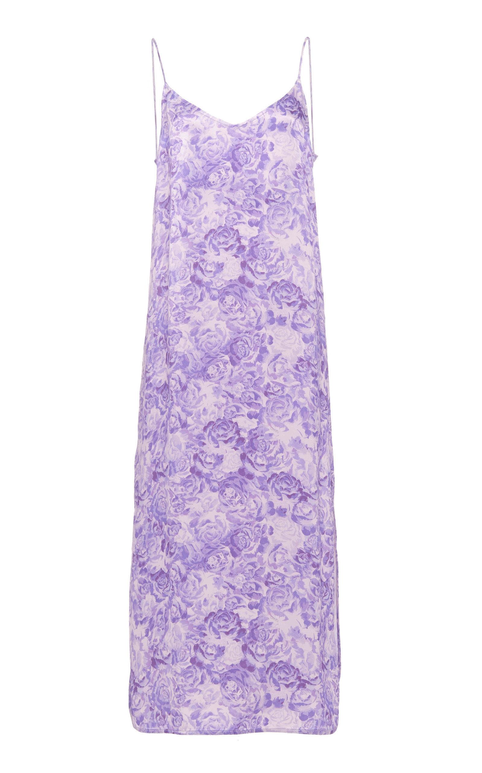 Heavy Satin Floral Slip Dress