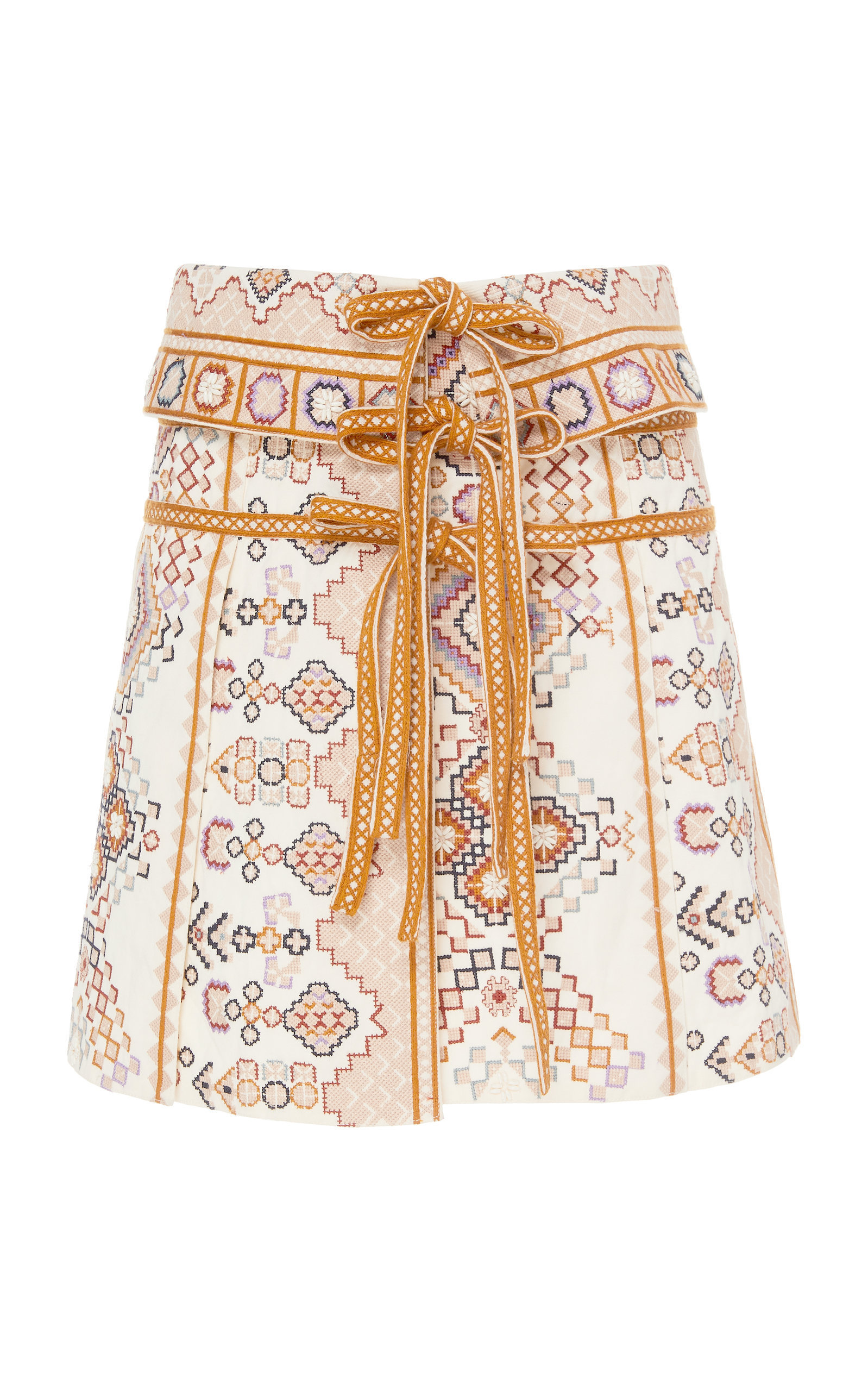 COTTON PANEL MINI SKIRT
