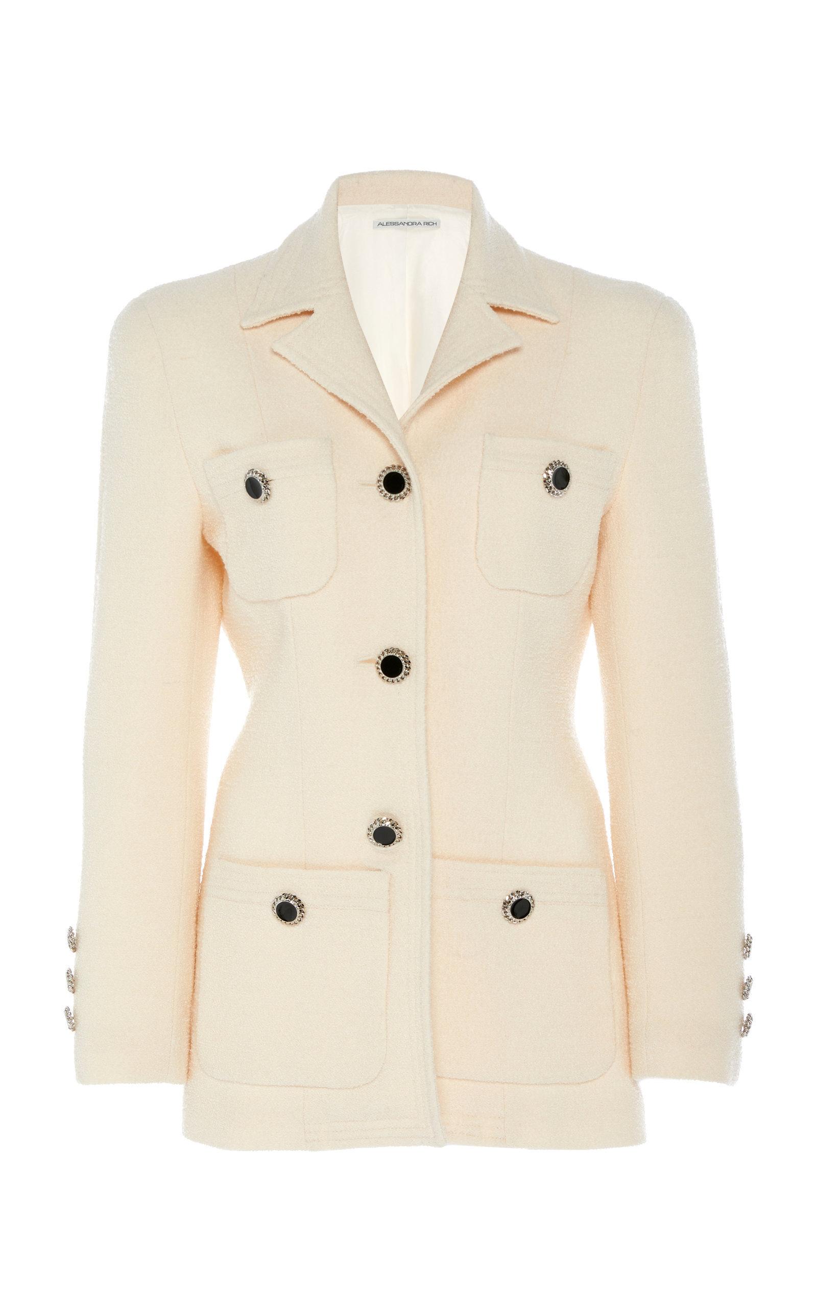 Wool-Blend Tweed Boucle Jacket