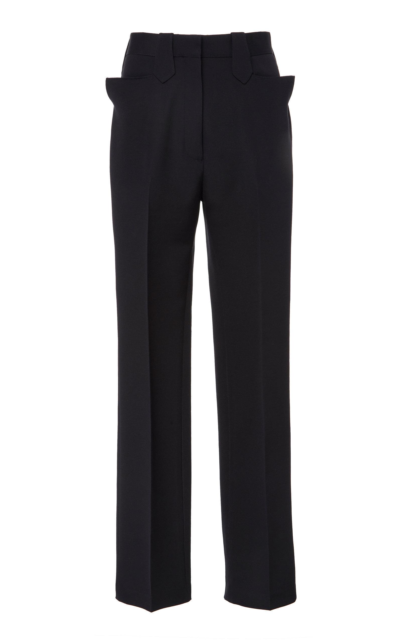 Ben Wool-Blend Crepe Straight-Leg Pants