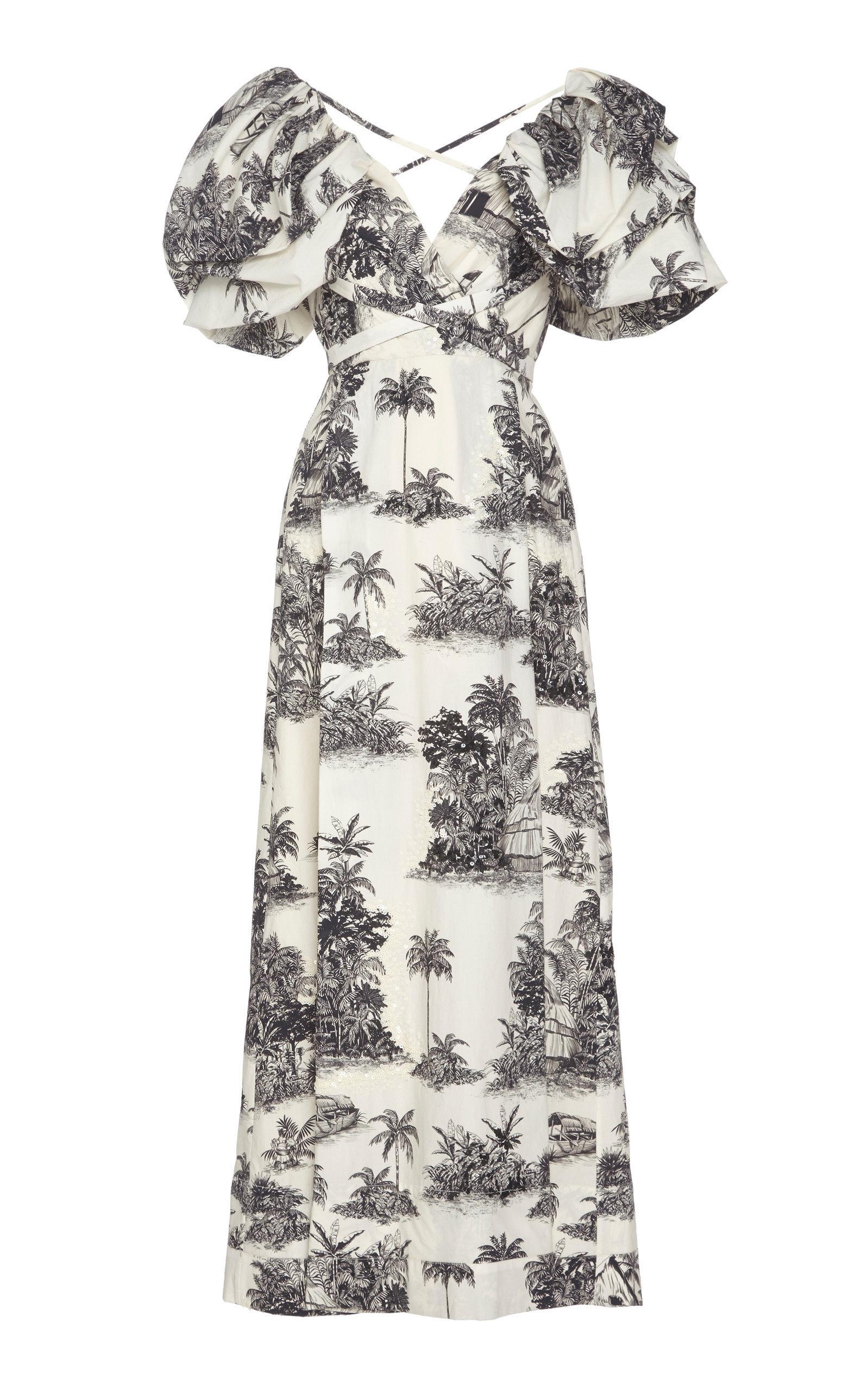 Anhelos De Tierra Printed Cotton Gown