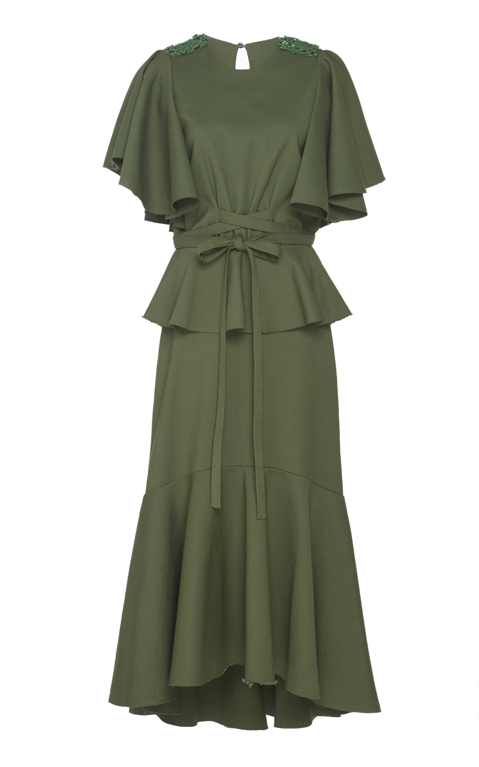 Follow The Drums Cotton-Blend Pleated Dress