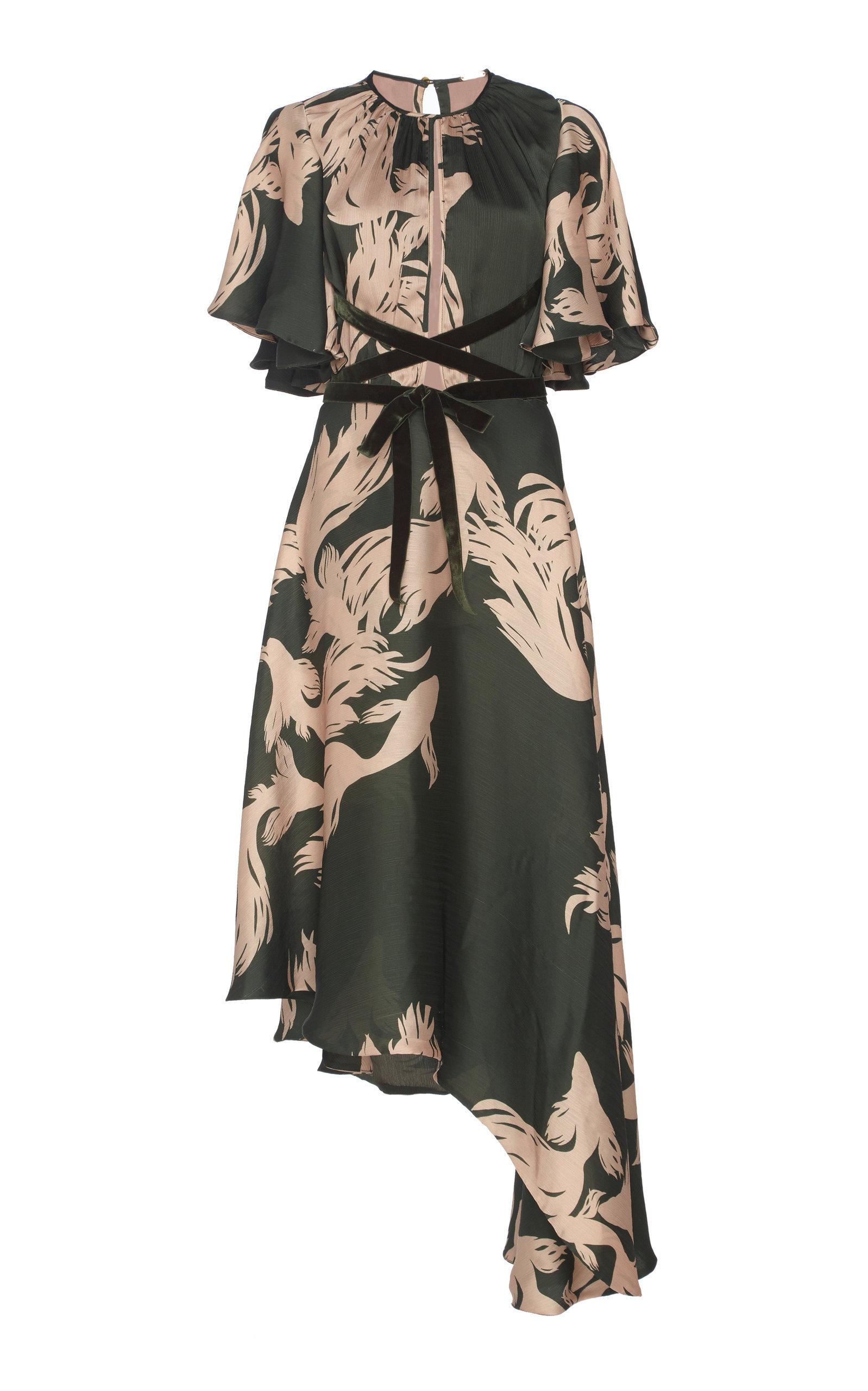 El Despertar De La Esencia Crinkle Georgette Maxi Dress