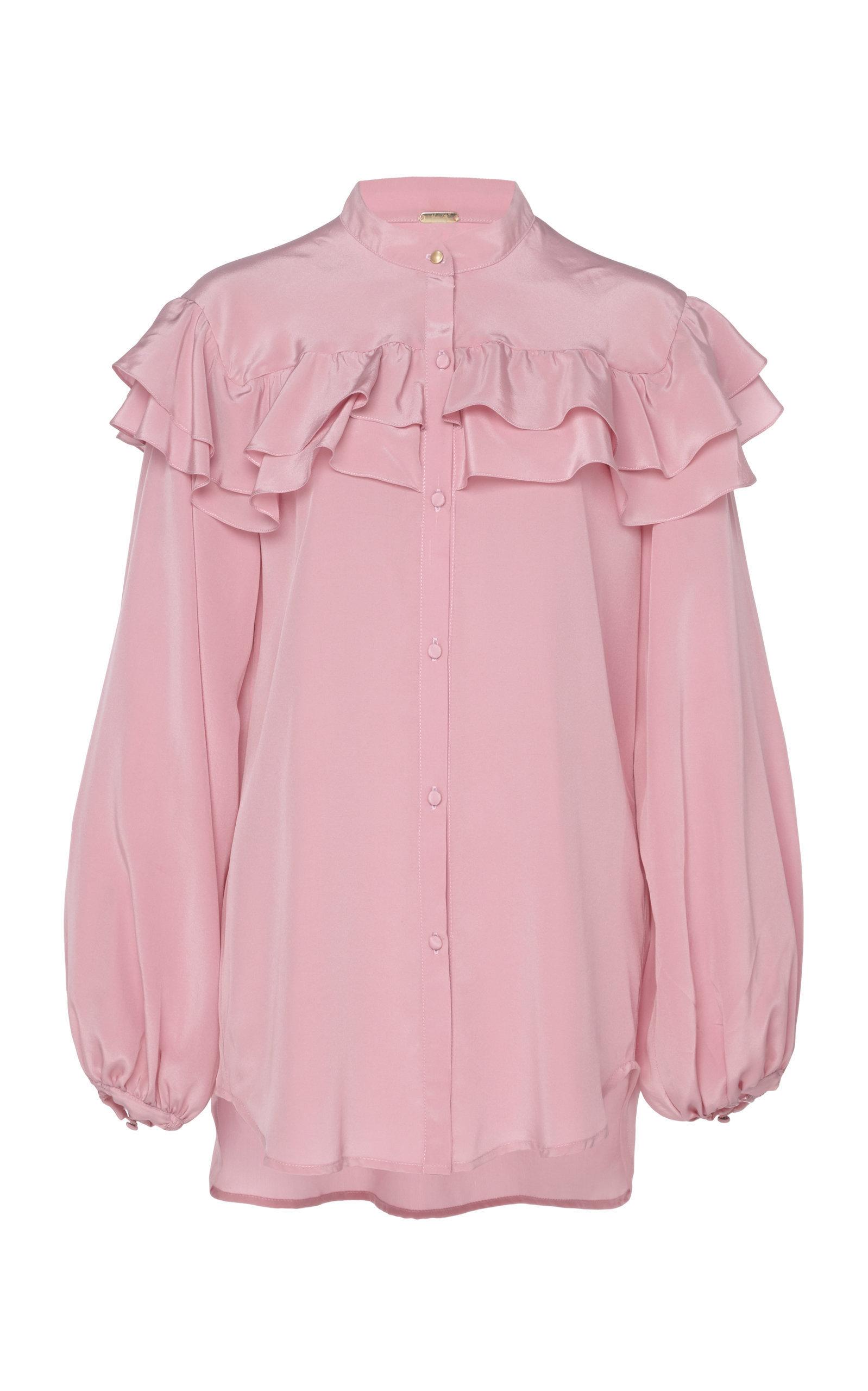 This Is Goya Ruffled Silk Top