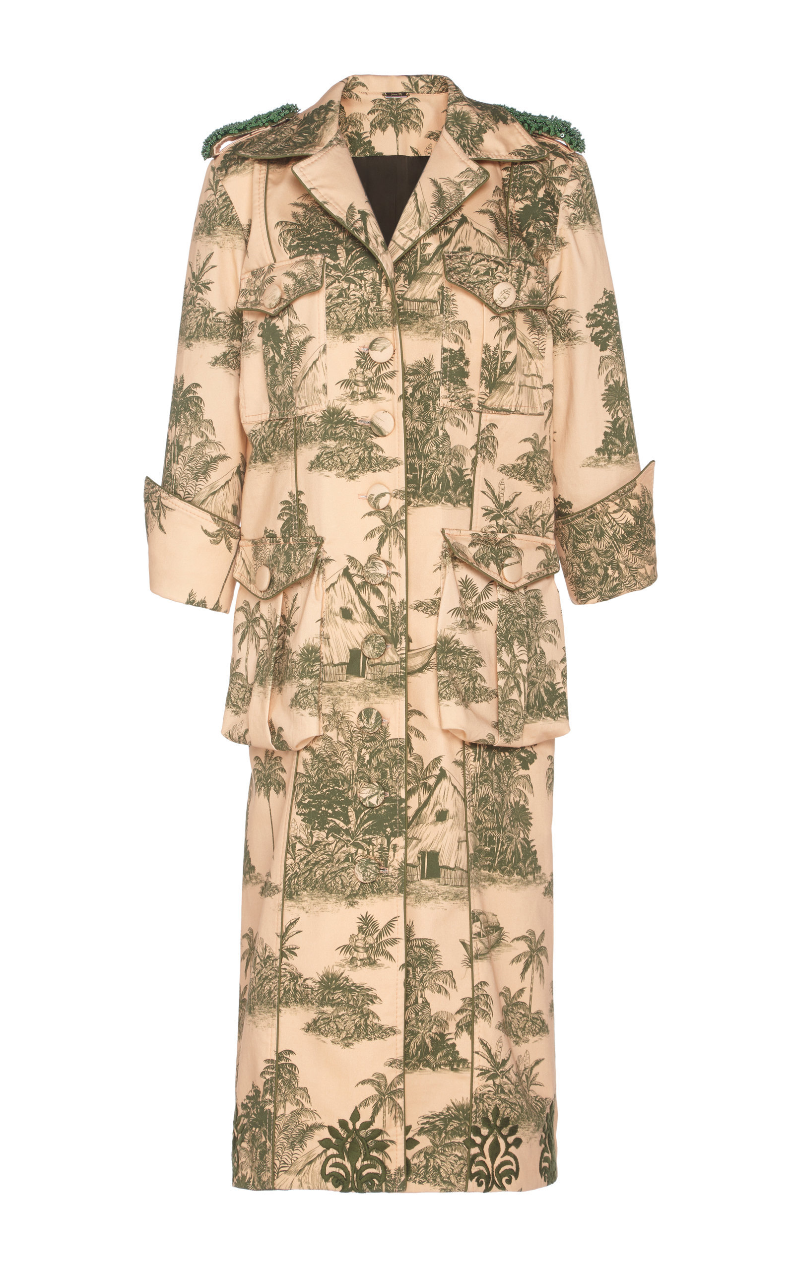 Vientos Invernales Cotton-Blend Trenchcoat