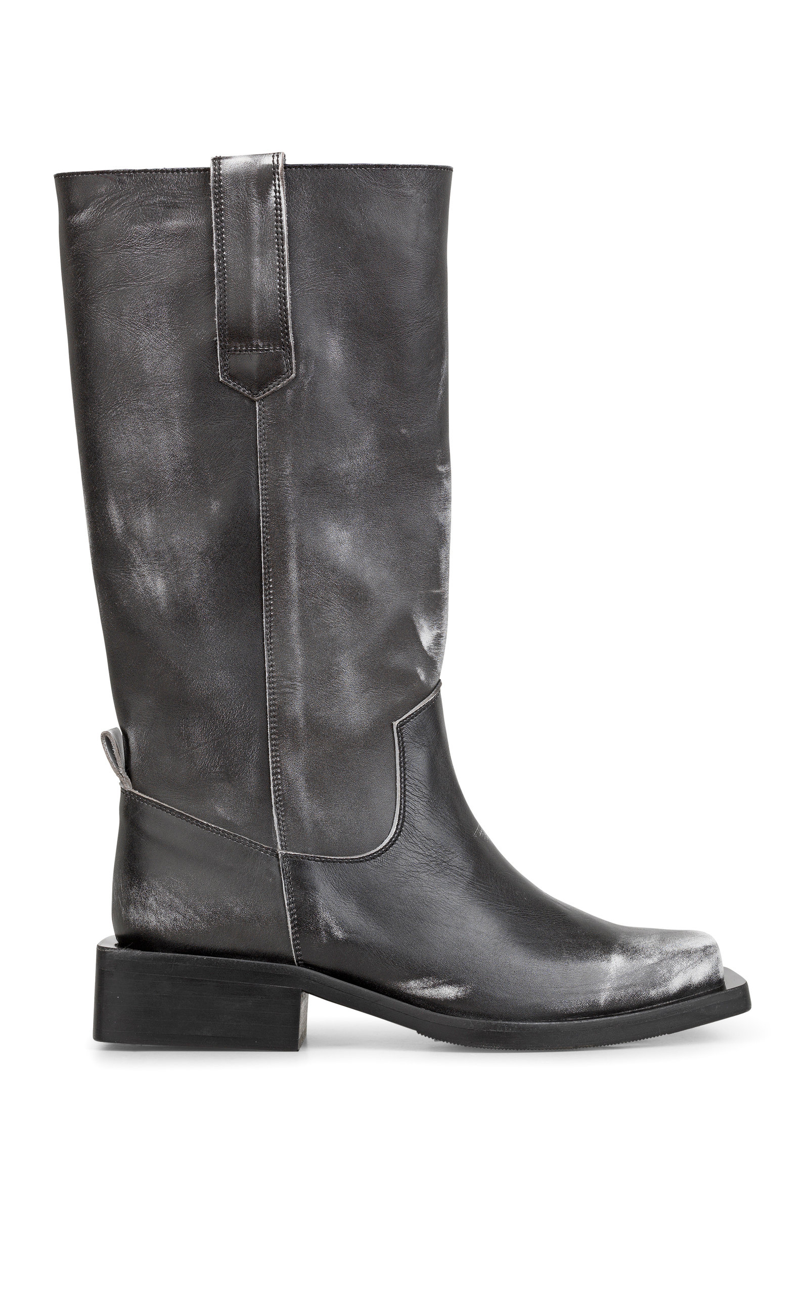 Exclusive Distressed Leather Motorcycle Boots