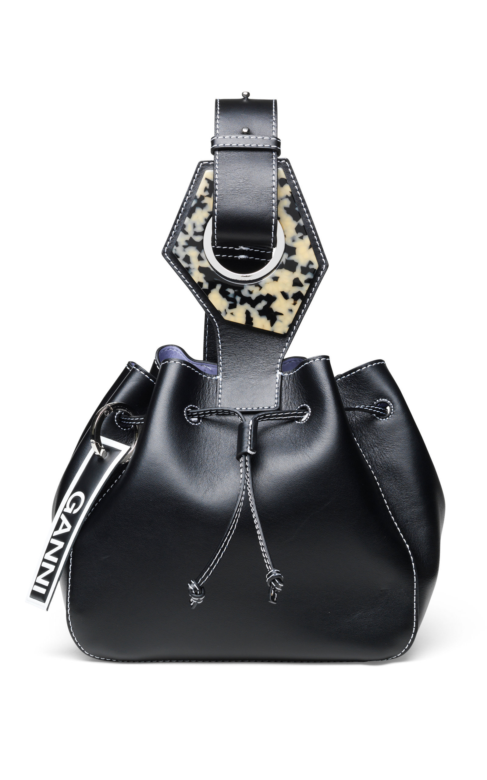 M'O Exclusive Leather Bucket Handbag