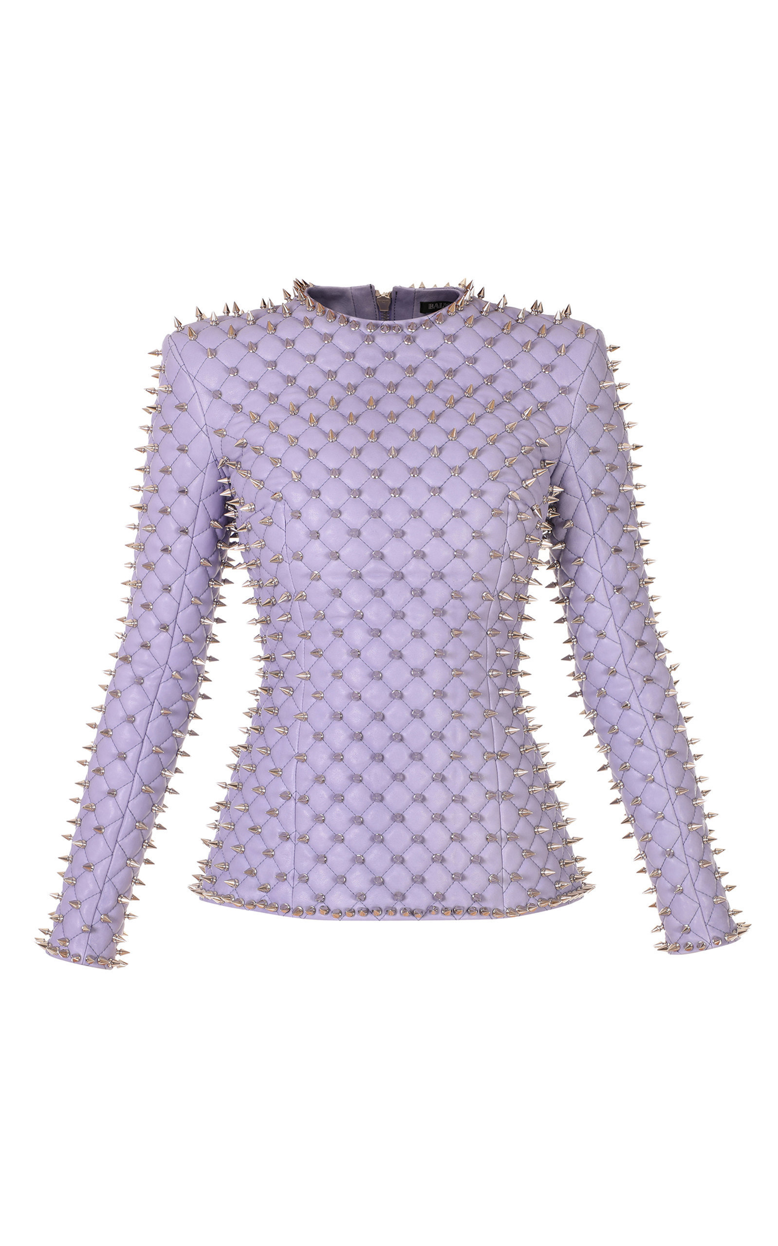 Spiked Quilted Leather Top