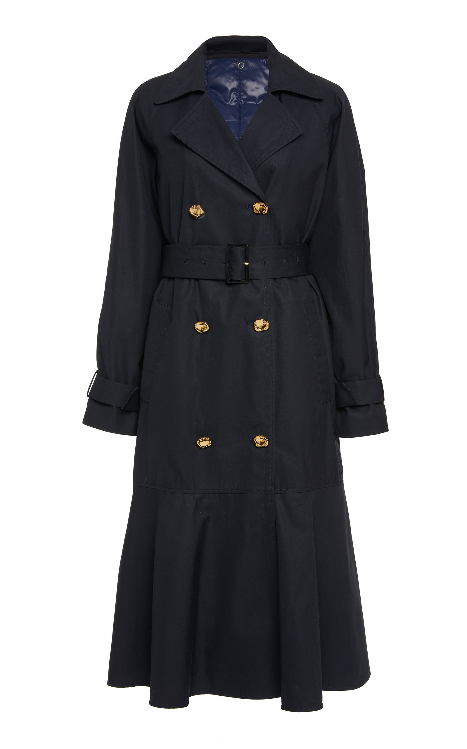 Flare Belted Cotton Trench Coat | $895