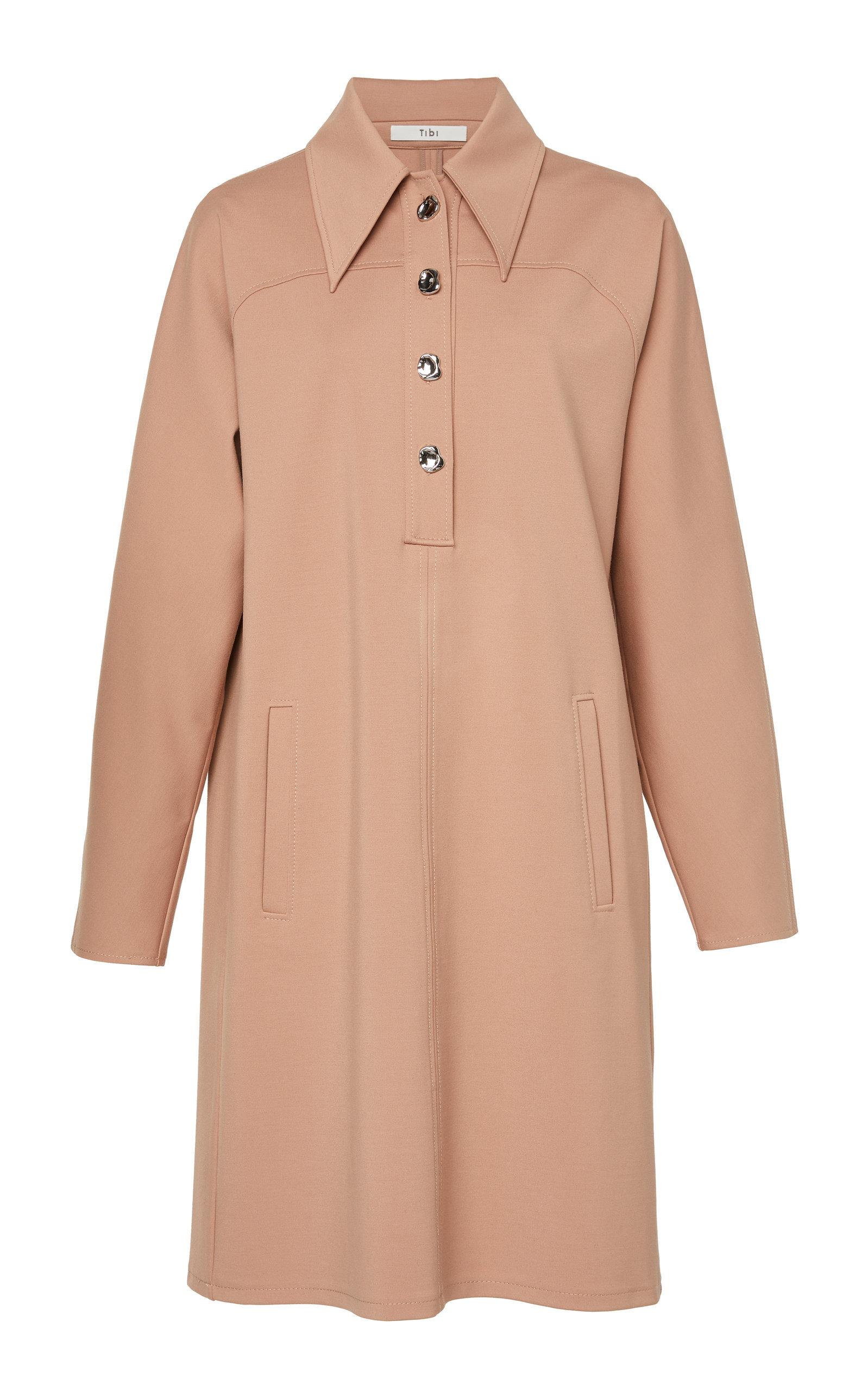 Bond Stretch Crepe Shirt Dress | $495