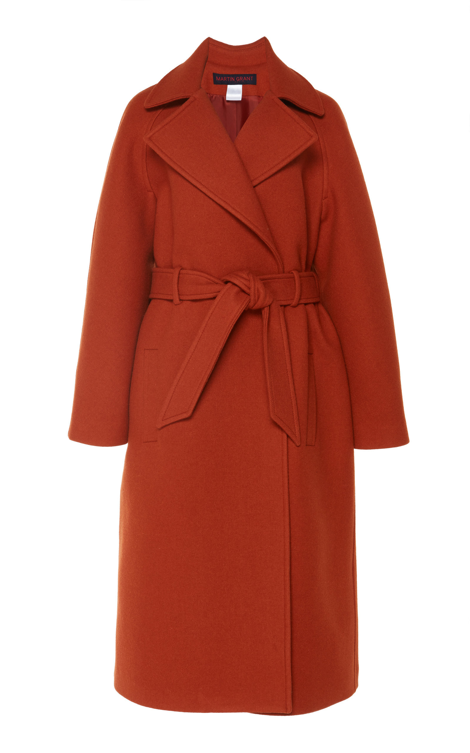 Classic Wool Trench Coat With Belt
