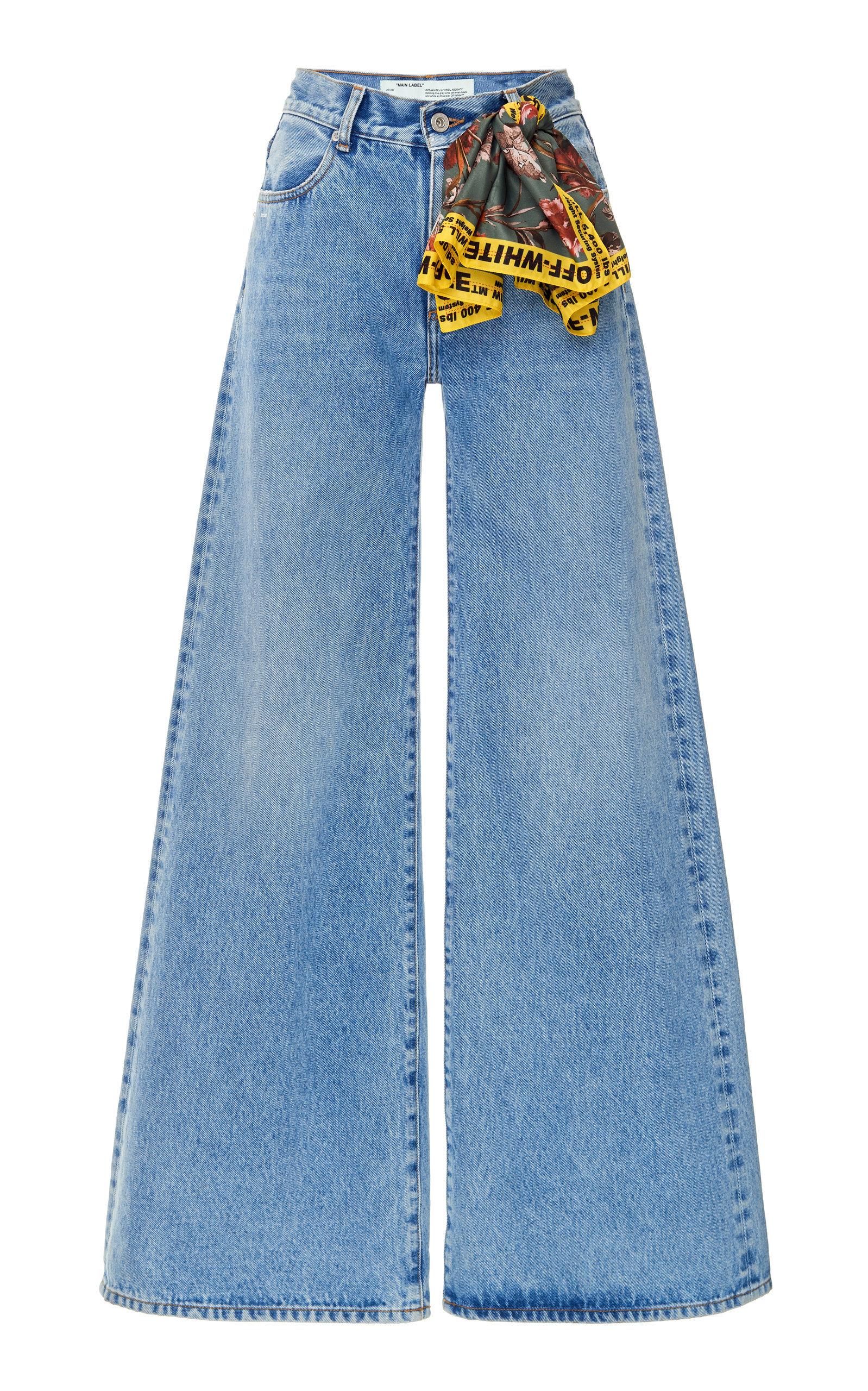 Mid Rise Wide Leg Jeans