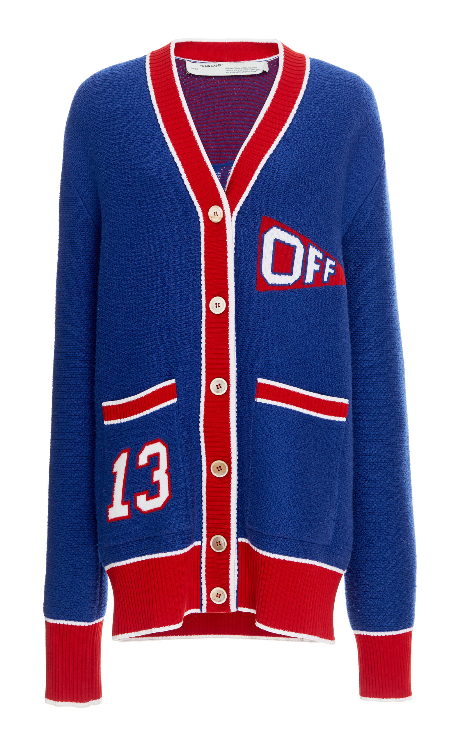 Varsity Flag Wool Cardigan