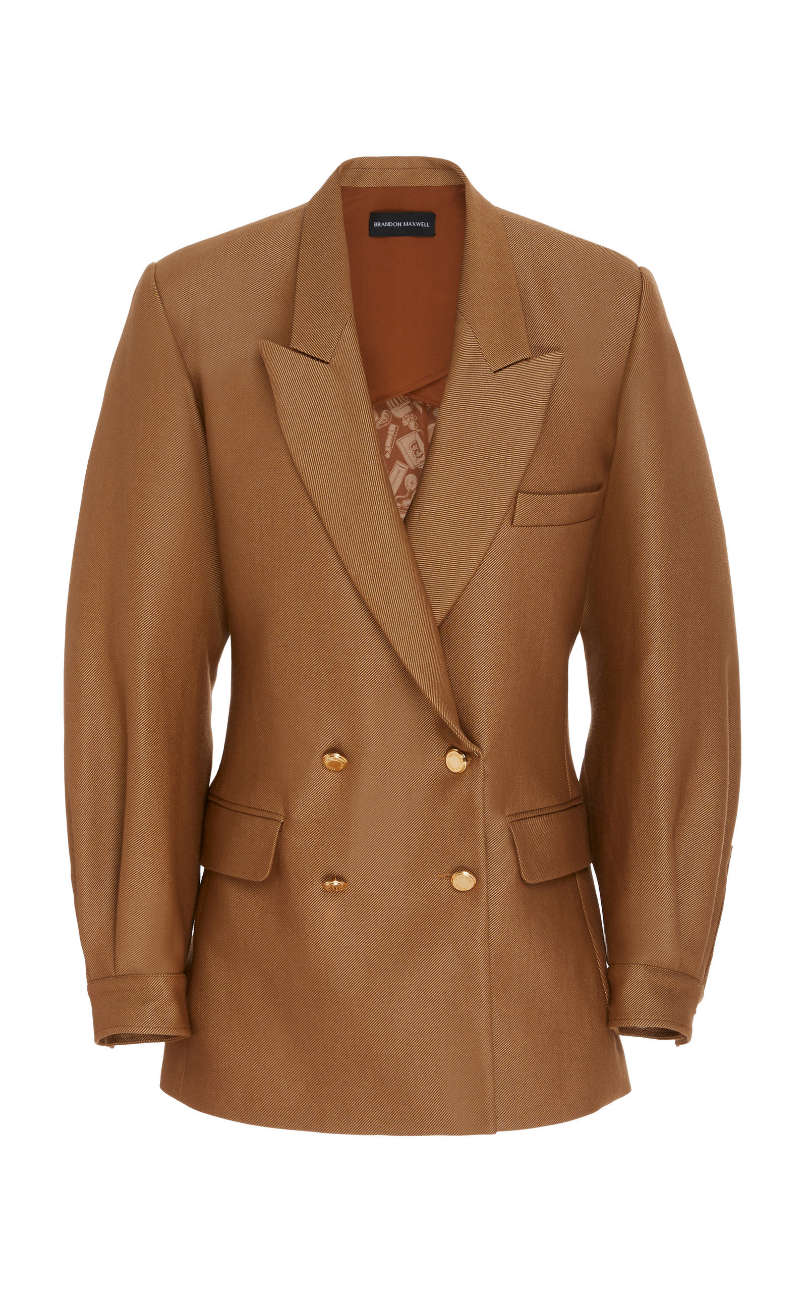 DOUBLE-BREASTED PUFF SLEEVE JACKET