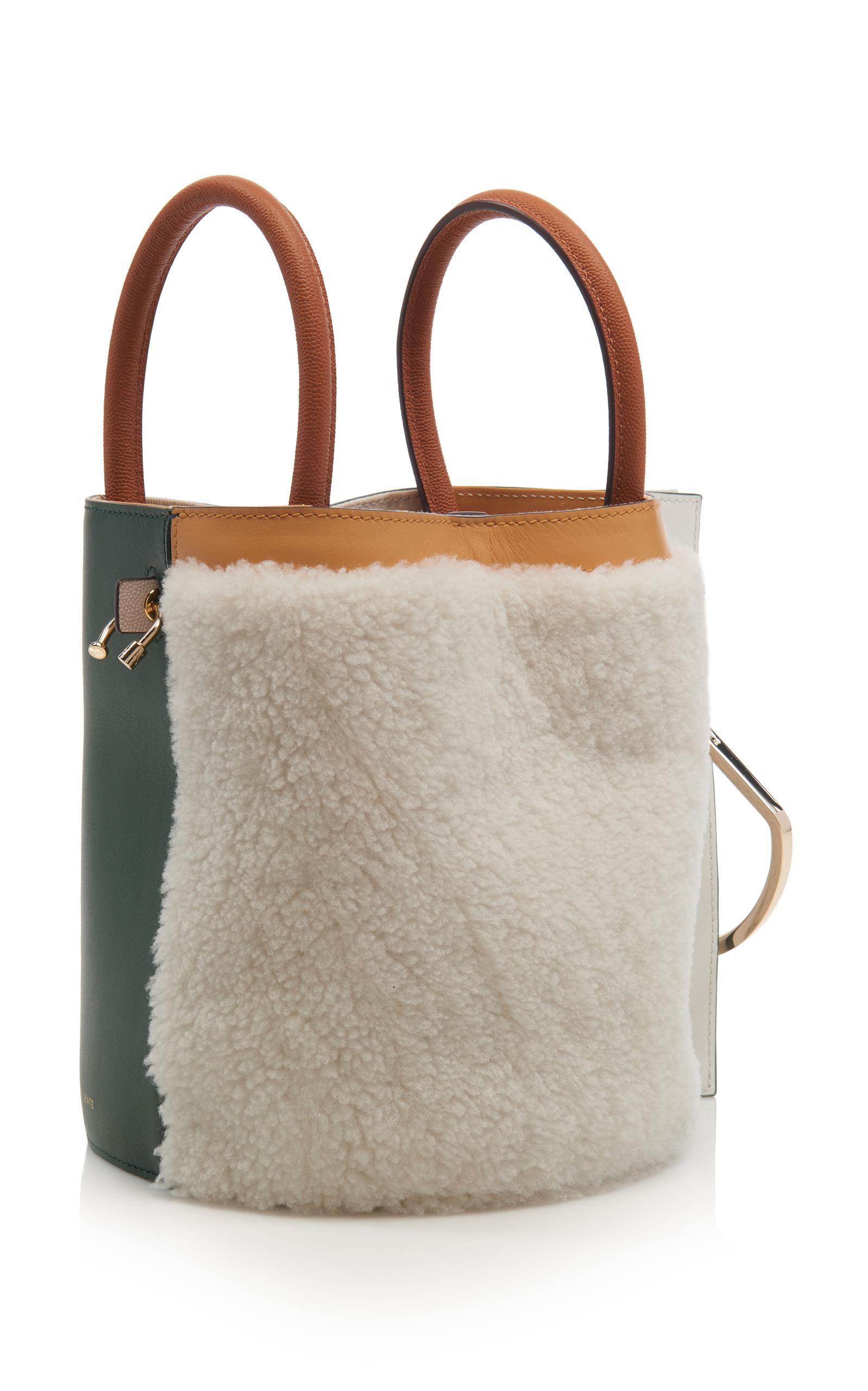 Shearling Bobbi Bucket Bag