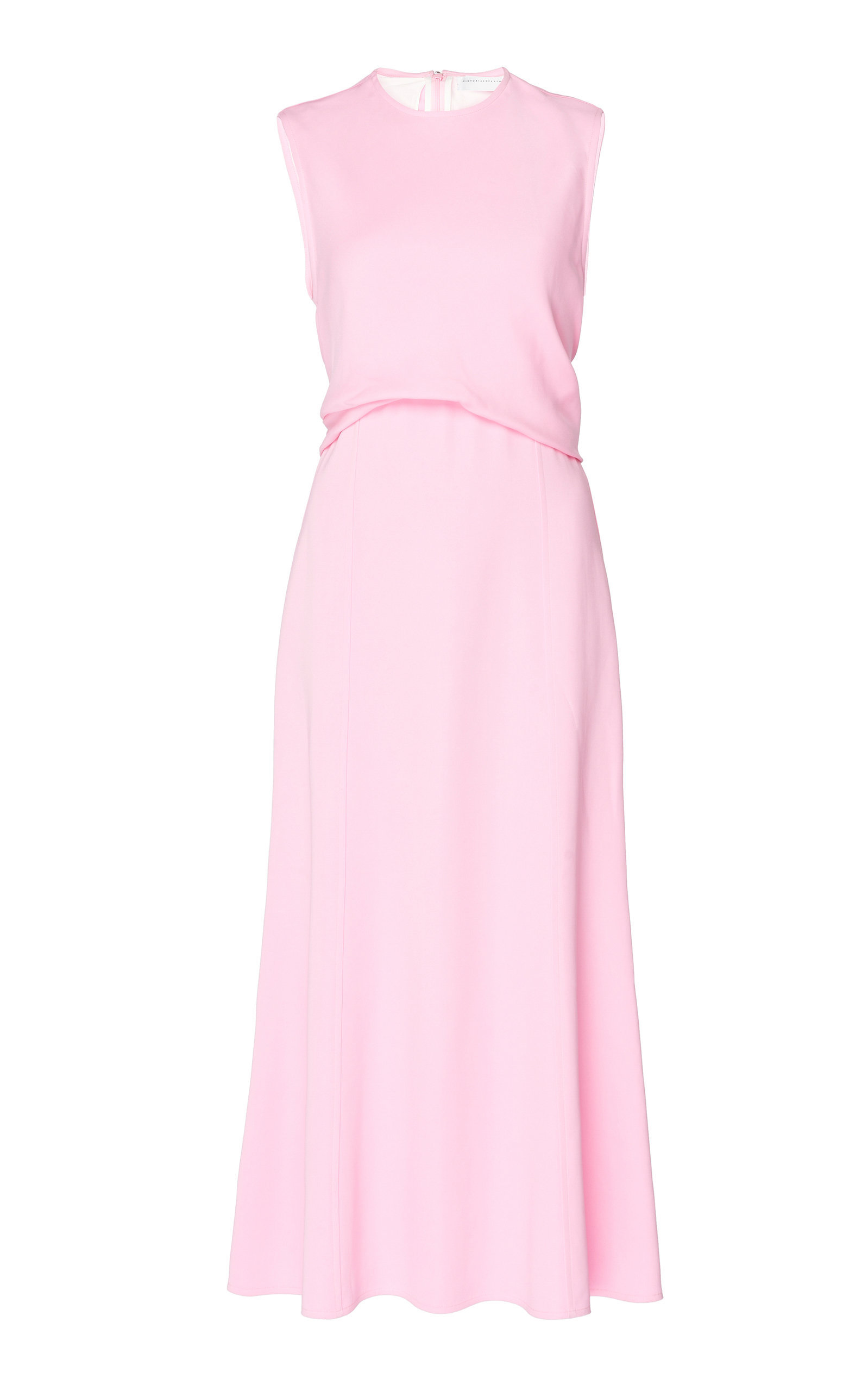 Sleeveless Draped Georgette Midi Dress