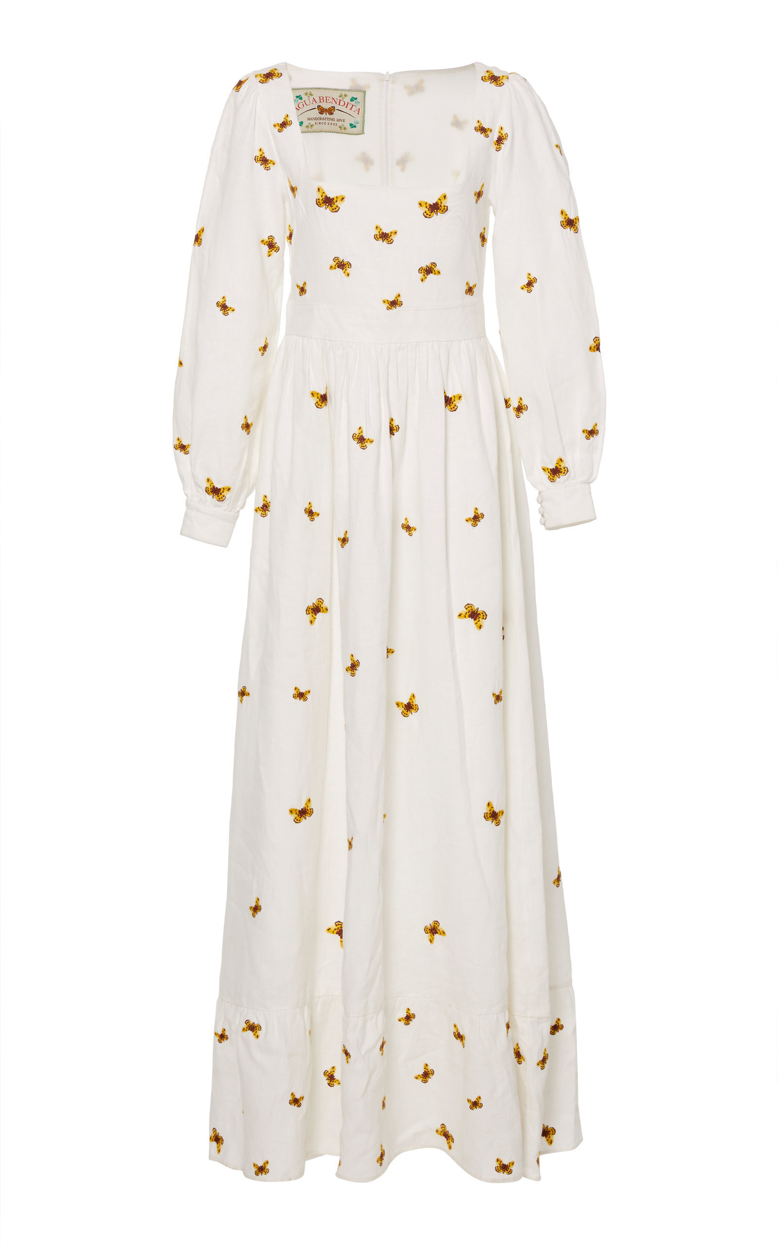 Curuba Embroidered Linen Dress