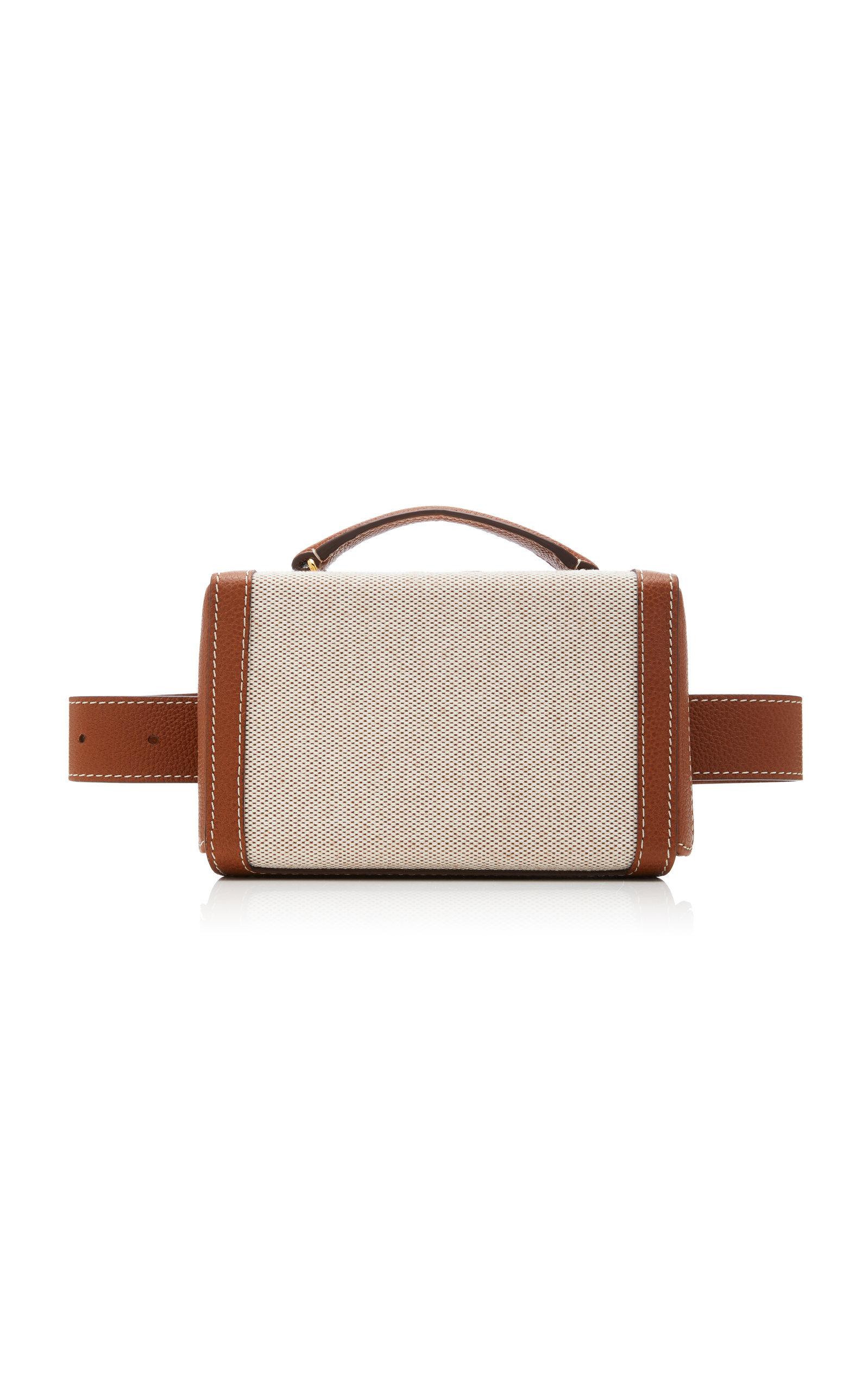 Grace Leather-Trimmed Belt Bag