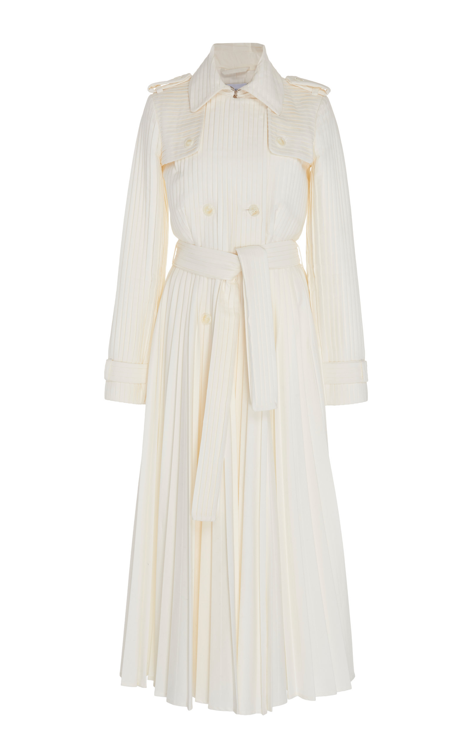 Pleated Cotton Trench