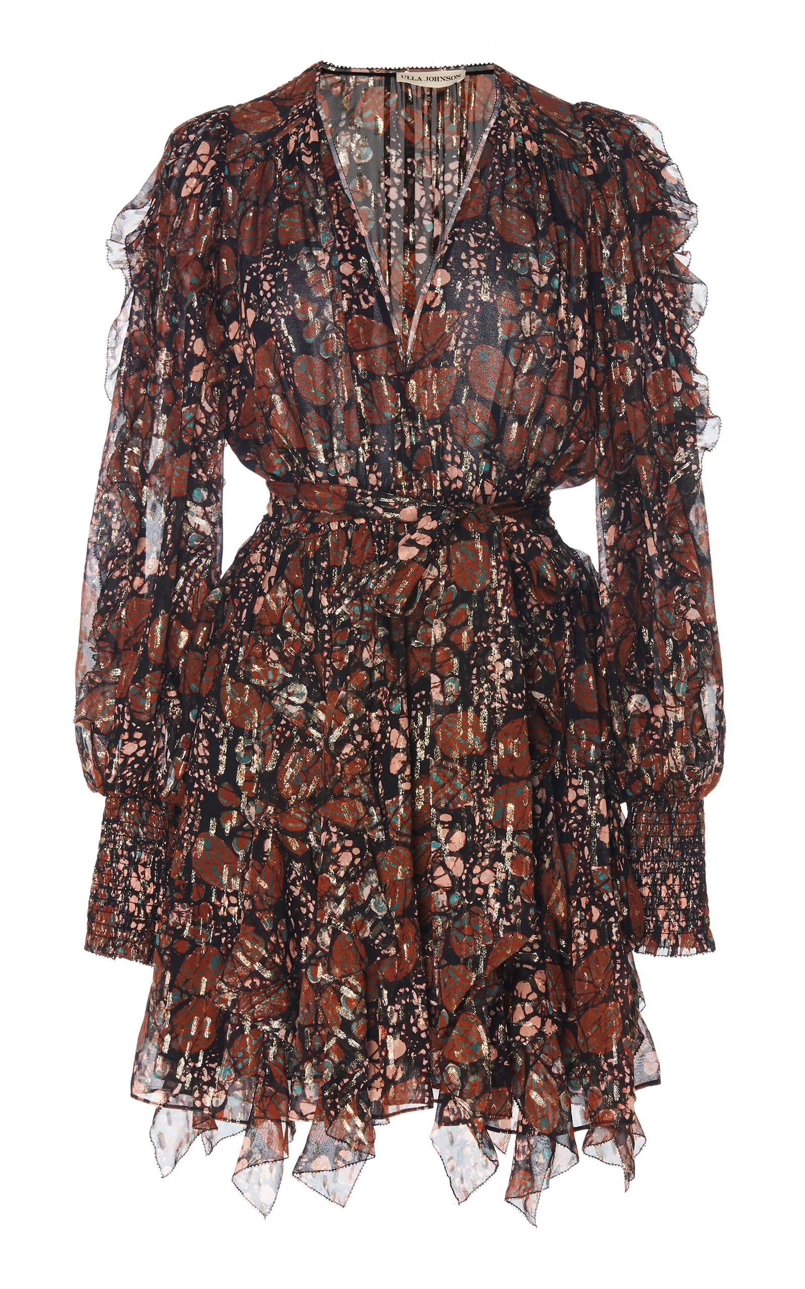 Natalia Printed Silk-Blend Dress