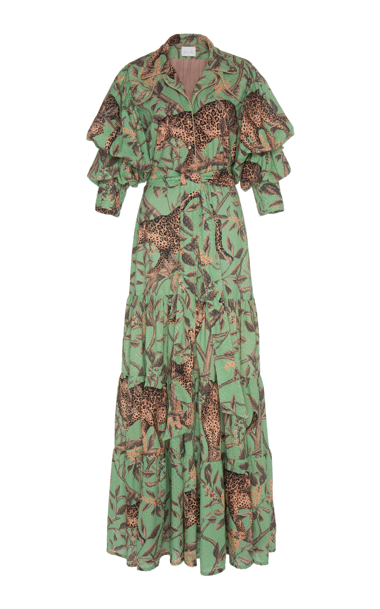 Magestic Safari Printed Eyelet Cotton Maxi Dress | $2,250