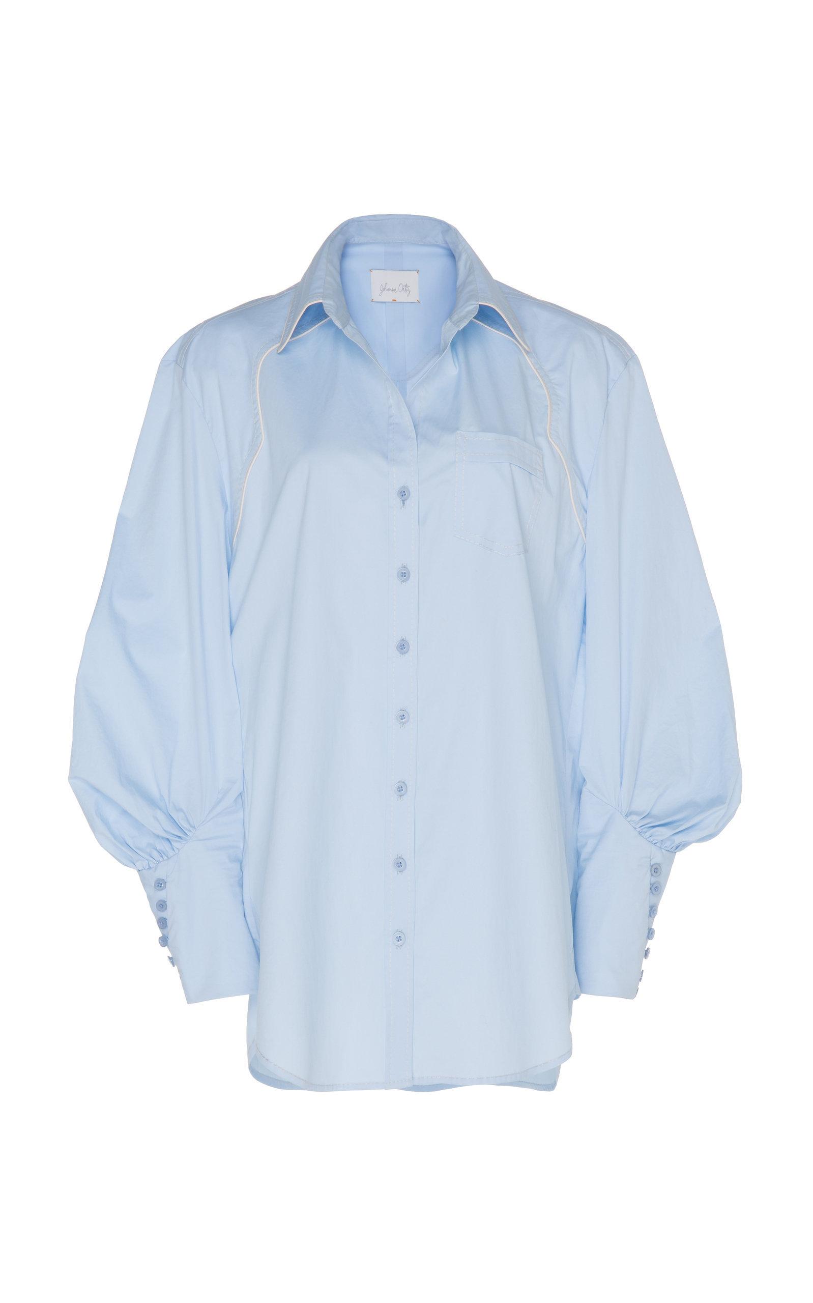 Heaven'S Door Collared Cotton-Blend Shirt | $595