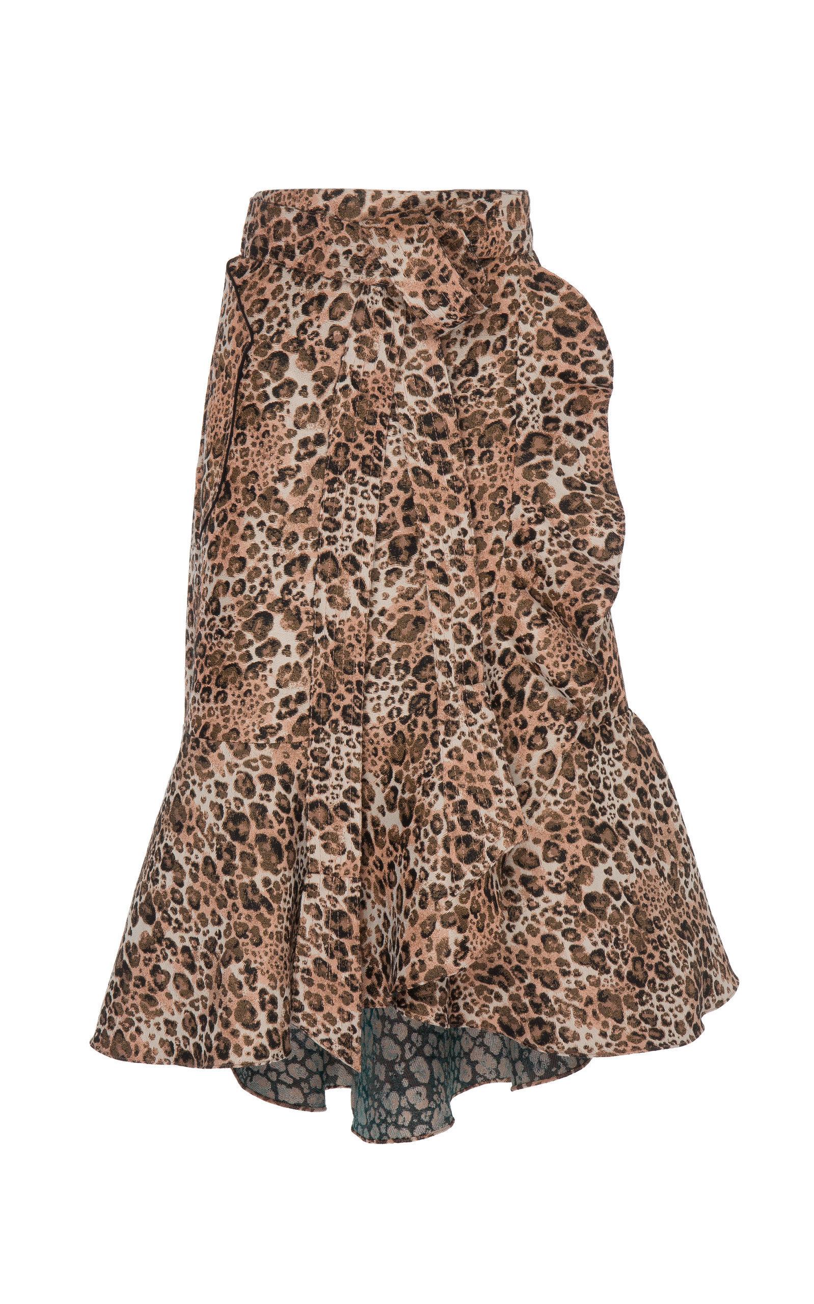 Cynical Attitude Printed Crepe Wrap Skirt | $1,350
