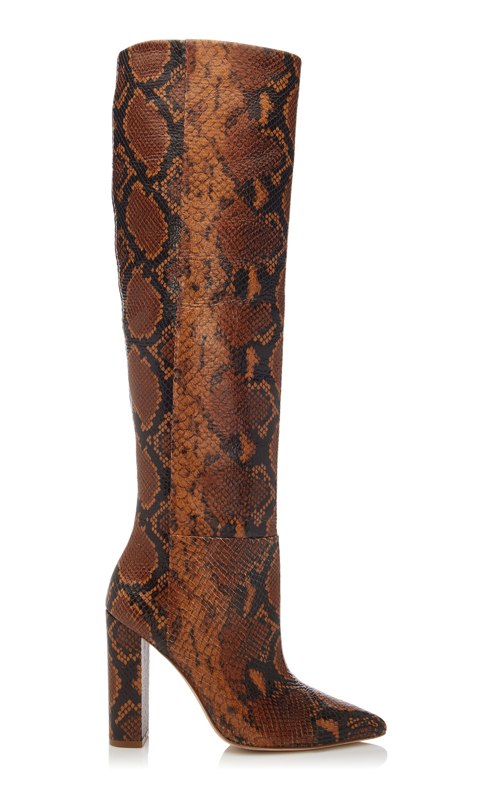 Jerri Snake-Effect Leather Boots | $795