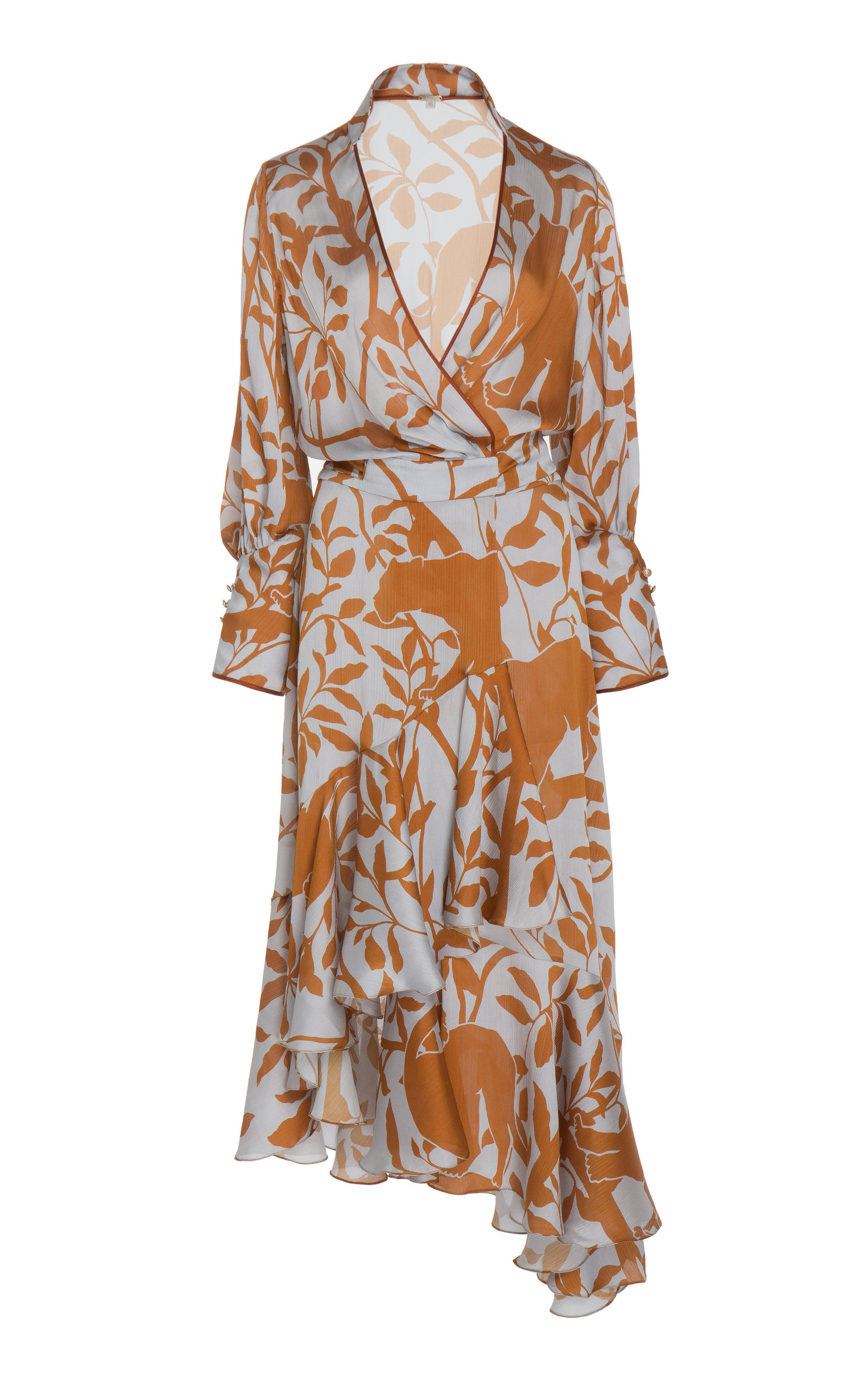 The Journal Of A Traveler Printed Crepe De Chine Wrap Dress | $1,450