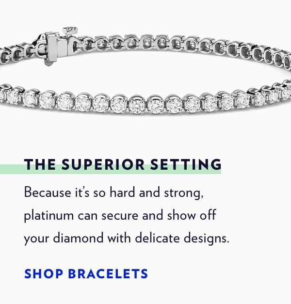 Shop Platinum Bracelets