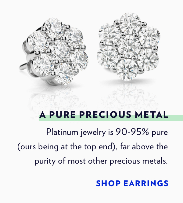 Shop Platinum Earrings