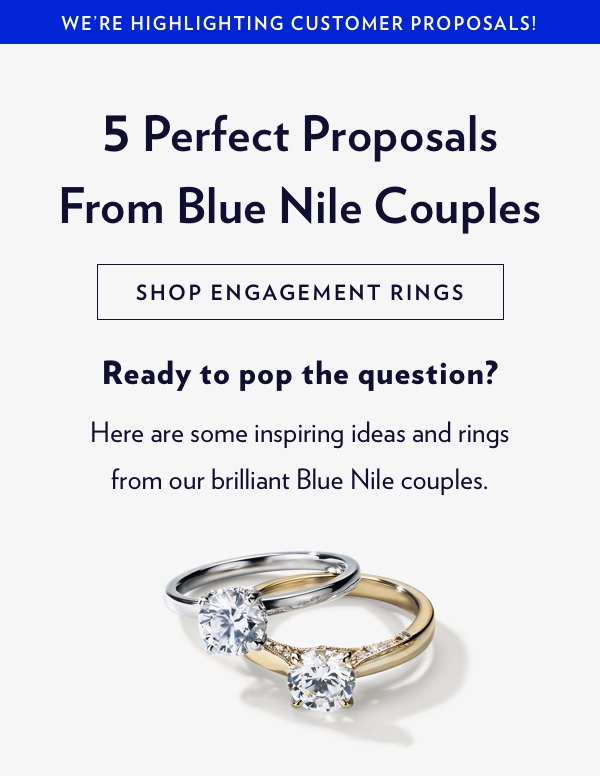 It's National Proposal Day! Shop Engagement Rings.