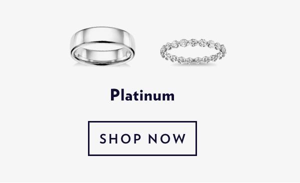 Platimun Rings. Shop Sale.