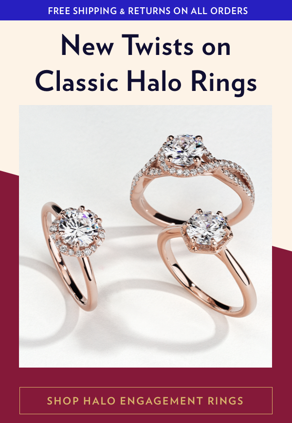 Shop New Halo Engagement Rings Styles