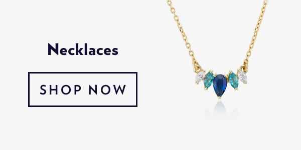 Blue Gemstone Necklaces. Shop Sale.