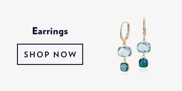 Blue Gemstone Earrings. Shop Sale.