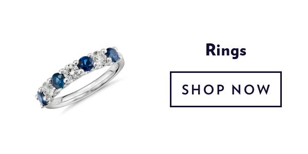 Blue Gemstone Rings. Shop Sale.