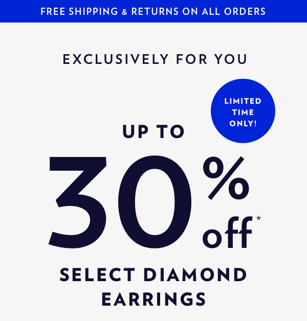 Up To 30% Off Select Diamond Stud Earrings