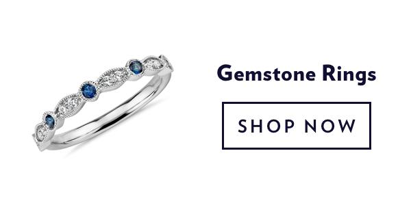 Gemstone Rings. Shop Sale.