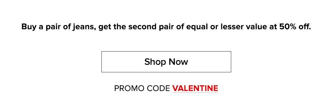 Shop now - use code: VALENTINE